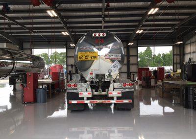 Slay-Transportation-tanker-fleet-trucking-st-louis-texas-shiny-tanker-in-shop